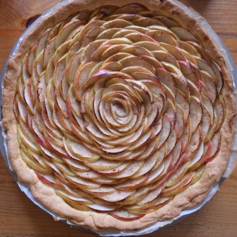 Apfel-Tarte-Rosette gebacken